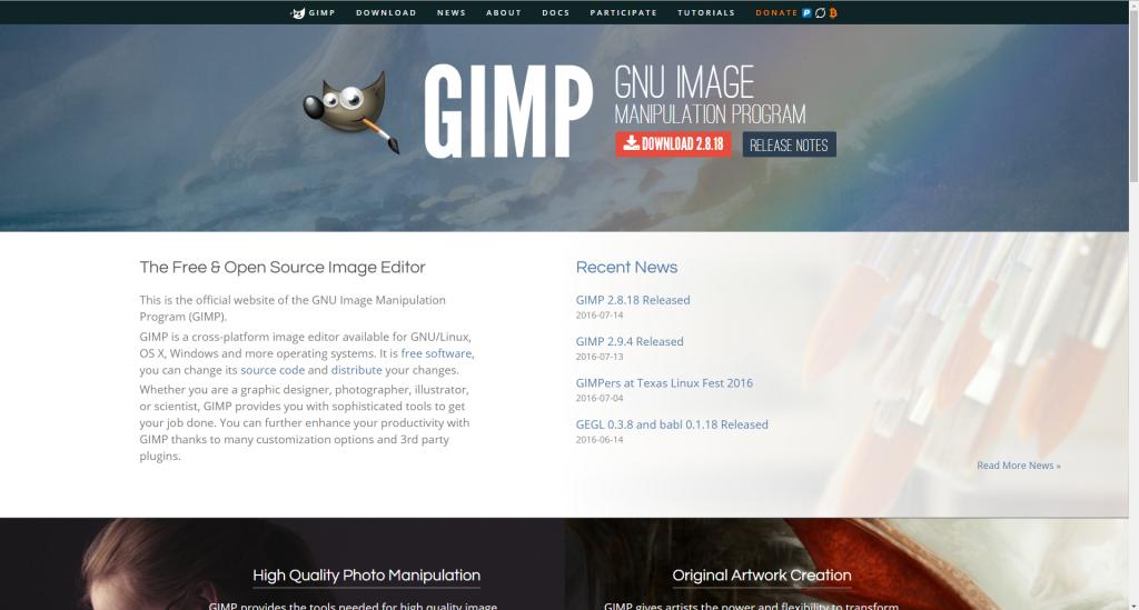 GIMPページ