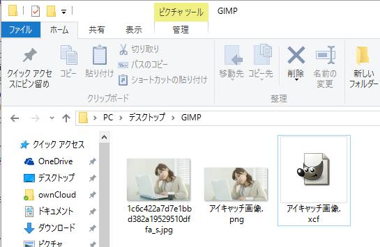 GIMPフォルダ内